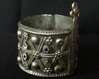 Vintage Afghan Kuchi Pashtun Tribal Cuff Bracelet Bellydance Uber Kuchi®