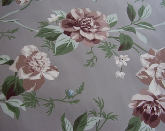 Vintage Wallpaper Roses 1940s Romantic Craft Supply Yardage Available Shabby Cottage Chic