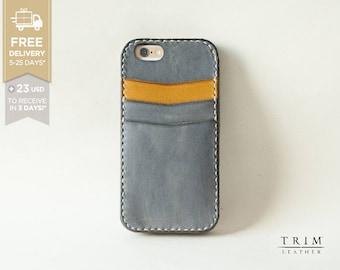 iPhone 6s iPhone 6s Plus iPhone 6 iPhone 6 Plus Leather Card Case Bumper Cover [Handmade] [Custom Colours]