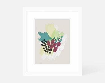 Abstract Wall Art / Modern Abstract Art / Pink and Green / Framed Wall Art / 5x7 Art, 8x10 Art, 11x14 Art, 16x20 Art, 18x24 Art
