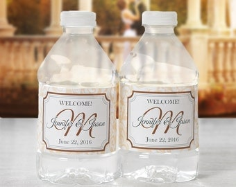 Bottled Water Labels - 30 Wedding Water Bottle Labels - Wedding Bottled Water Labels - Personalized Water Bottle Wraps - Bottle Stickers