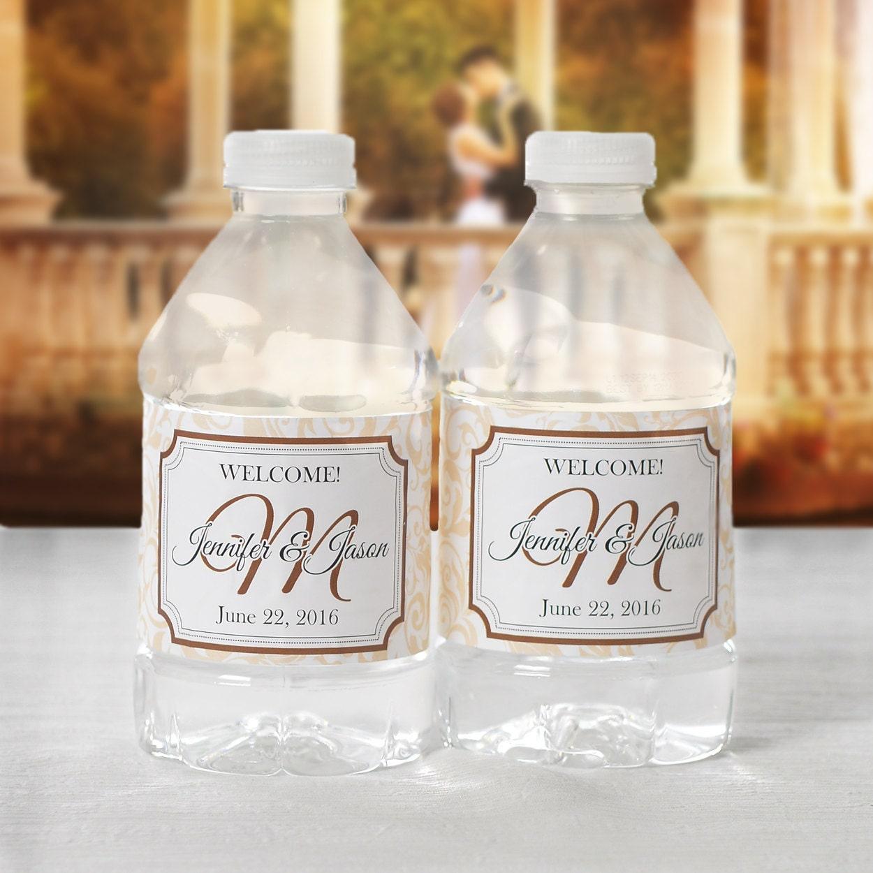 bottled water labels 30 wedding water bottle labels