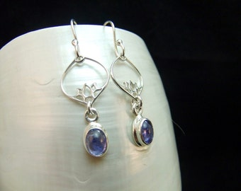 Tanzanite Sterling Silver Earrings