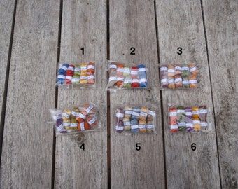Dollhouse miniature balls of yarn 10 pcs