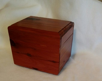 Cedar Recipe Box Keepsake Box  Valentine Day Bridal Gift