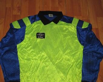 Vintage 1990s Umbro Neon Rave Goalie Shirt