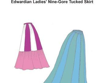 RH952 — Ladies' Edwardian Nine-Gore Skirt