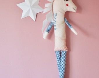Unicorn - Unicorn Gift - Unicorn Soft Toy - Personalised Toy -  Unicorn Teddy - Unicorn Cloth Toy