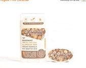 ON SALE Vegan Deodorant, Cedarwood Orange - All Natural & Aluminum Free