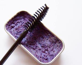 NEW  COLOR - Mineral Mascara - AMETHYST Creamy Cake Mascara - Purple Zero Waste Mascara - Cake Eyeliner - Paraben-Free -