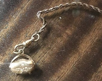 1920's  watch fob and chain