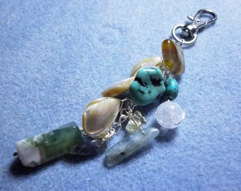 Handbag Charm made with Semi-precious gemstones.