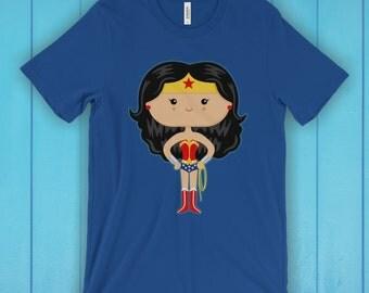 Wonder T-Shirt, Unisex Graphic T Shirt, Women's T Shirt, Men's T Shirt, available in 20 colors - Superhero T-shirt, Movie T-shirt