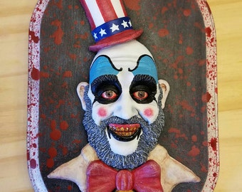 Captain Spaulding Wall Hanging Sculpture Plaque