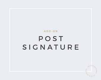 Matching custom post signature for Blogger or Wordpress
