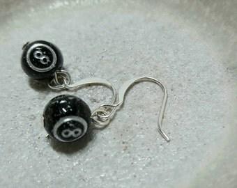 EIGHT BALL earrings
