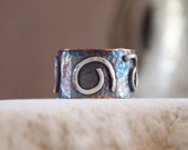 Oxidized Sterling Silver Handmade Band Ring