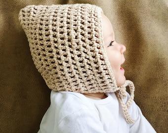 100% Cotton Aiden Bonnet