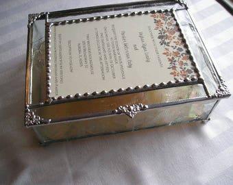 MADE to ORDER Wedding Keepsake Box Wedding Gift Wedding Invitation Box Stained Glass Wedding Keepsake Box Handcrafted Made in USA