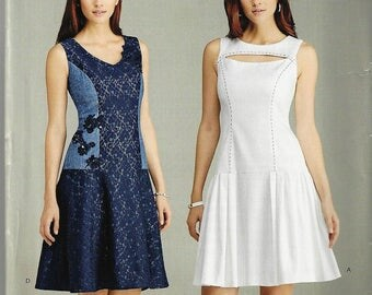 NewSimplicity Pattern #1103 Misses'Sz 6-14 or 16-24 Dress with Bodice and Skirt VariationsUncut Factory Folded