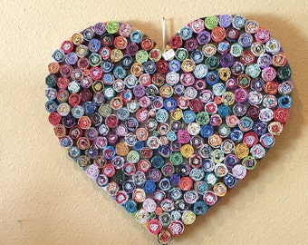 Paper Heart Wall Decor