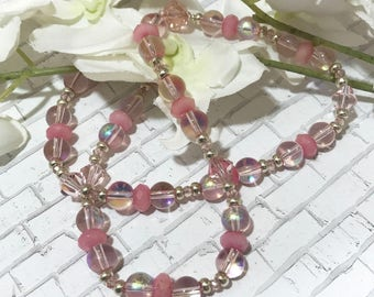 Fairy Tale Pink necklace in sterling silver