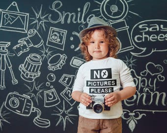 No Pictures Please Babies, Kids or Toddler T-shirt