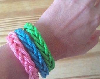 Three Sailors knot herringbone turkshead  Beach summer Paracord rope bracelets.