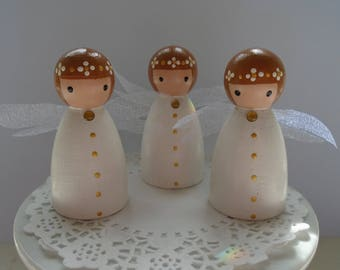 NEW*** Hand Painted Wooden Peg Doll -  Angels