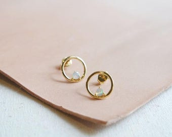 NEW Simple Everyday Earstuds - BRI - Opal Earrings, Bridesmaids Gift, Gifts for Her