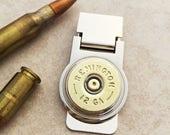Custom Engraved Remington Shotgun Shell Money Clip