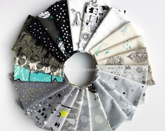 Sleep Tight Fat Quarter Bundle by Sarah Watts for Cotton and Steel Fabrics, COMPLETE