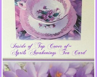 Spring Greeting Card Purple Flowers, Photography Card, Purple Flowers, Mother's Day Card, Birthday Card, Spring Tea Invitation, Teaparty,