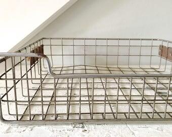 Vintage Wire Basket Industrial Large