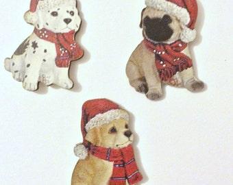Christmas Needle Minder, Dog Needle Minder, Festive Needle Keep, Pin Holder, Fridge Magnet, Pin Minder, Needle Holder, Needle Keep