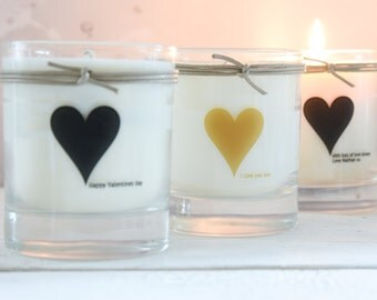 Love Heart Scented Candle for Valentines Day