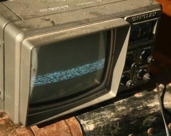 Set Design, Portable Bentley TV, Television Screen, Working, Retro TV, Electronics, Black and White,