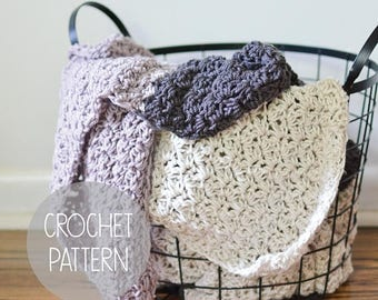 FLASH SALE crochet pattern - oversized blanket - the Stuart Blanket