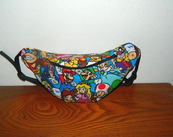 Nintendo Super Mario Bros Fanny Pack - Hip Bag - Children thru Adult Sizes
