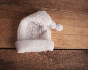 Boys/Girls Photography Prop Sleepy Knit Hat Light Grey