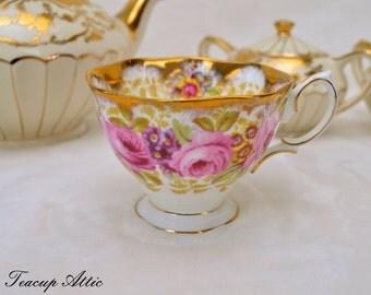 Royal Albert Serena Replacement Teacup, English Bone China Serena Replacement Tea Cup, ca. 1945-1977