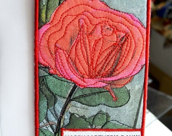Mother's Day Red Rose Card