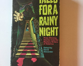 RARE Tales For A Rainy Night Edited by David Alexander  (1973, Paperback)