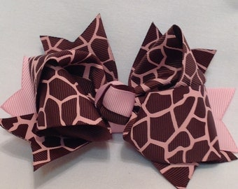 Boutique Hairbows/Girls Hairbows/Stacked Hairbows/