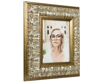 "Craig Frames, 24x36 Inch Antique Silver Baroque Picture Frame, Barroco, 3.6"" Wide (80812436)"