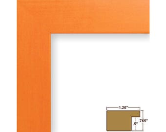 """Craig Frames, 16x20 Inch Orange Picture Frame, Bauhaus 1.25"""" Wide (260281620)"""