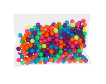6mm Round Neon Beads (300pc)