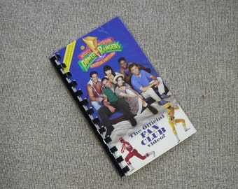 Handmade Mighty Morphin Power Rangers Fan Club Video 1994 Show Re-purposed VHS Cover Notebook Journal