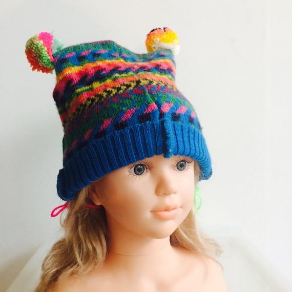 1-3 Years Wool Kids Bobble Hat Beanie Pom Pom