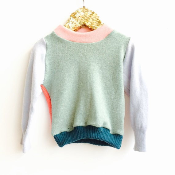 SOFTIE Kids 1-2 Years Cashmere Jumper Handmade Top Sweater Pullover Pulli Upcycled Thermal Cashmere Unisex